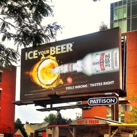 Ice Your Beer Campaign Billboards